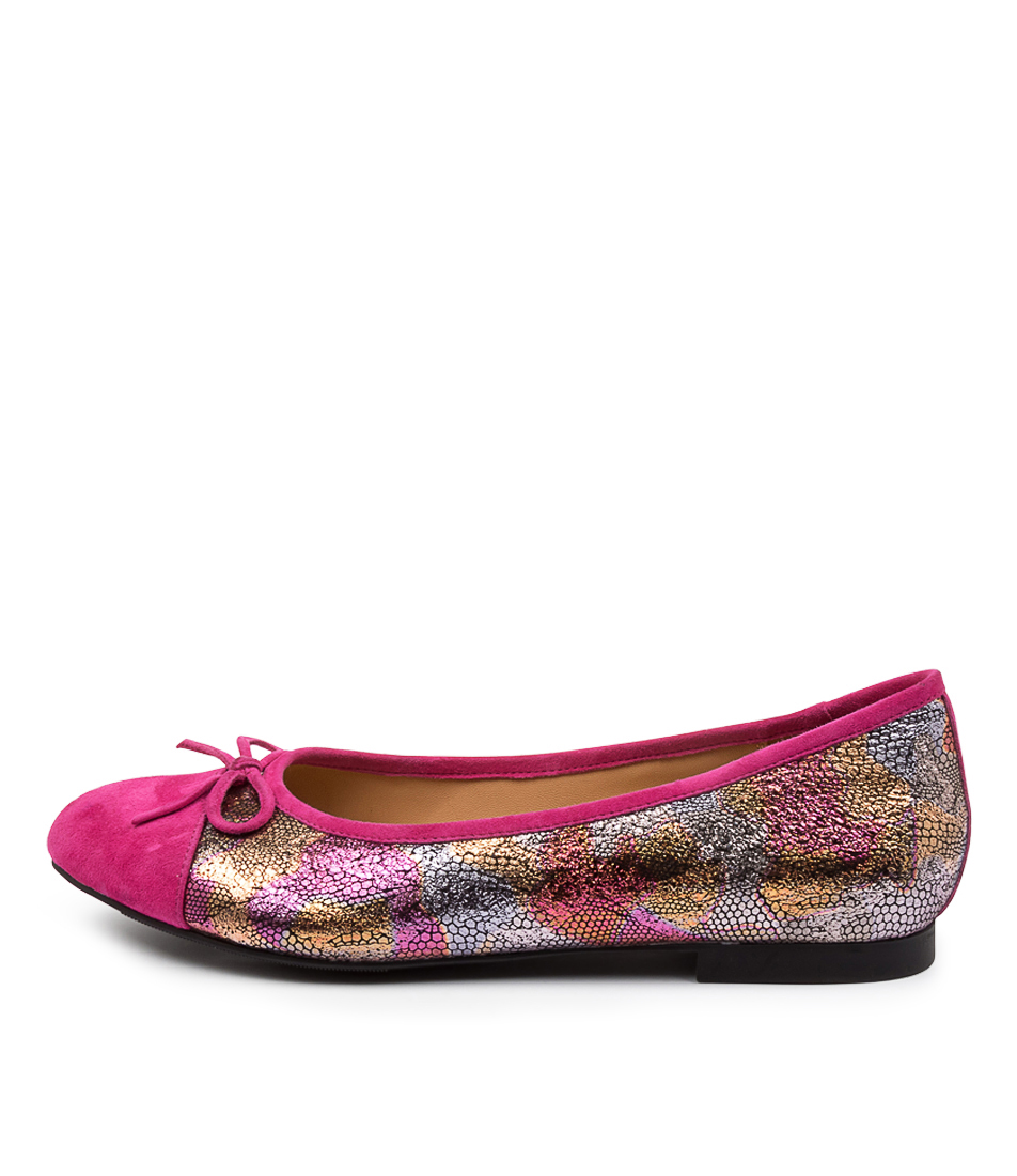 Buy Ziera Chelsea Xf Zr Fuchsia Bright Metallic Flats online with free shipping
