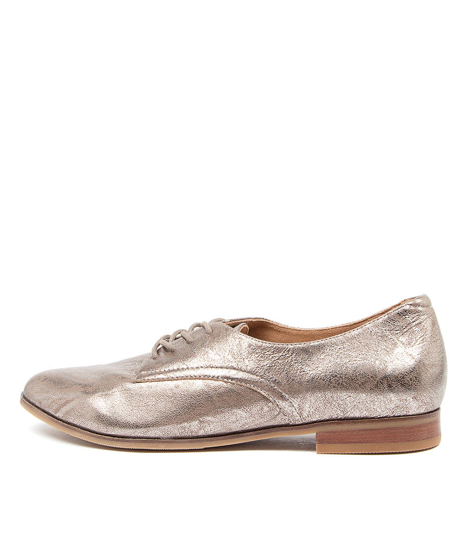 Buy Ziera Oscar Xf Zr Mid Grey Metal Parker Flats online with free shipping