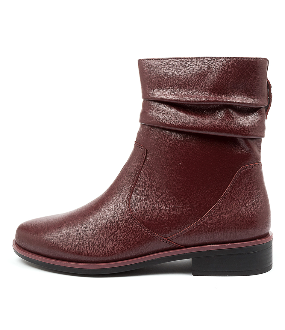 Buy Ziera Selma Xf Zr Dk Red Ankle Boots online with free shipping