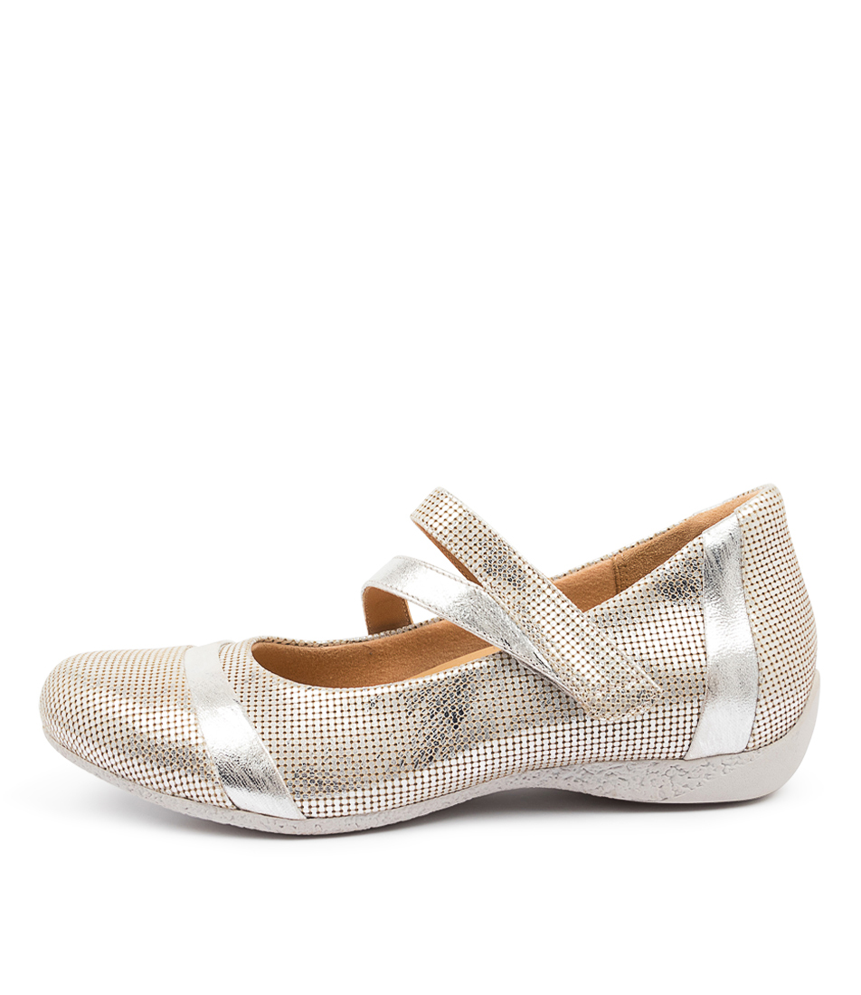 Buy Ziera Starr W Zr Silver Flats online with free shipping