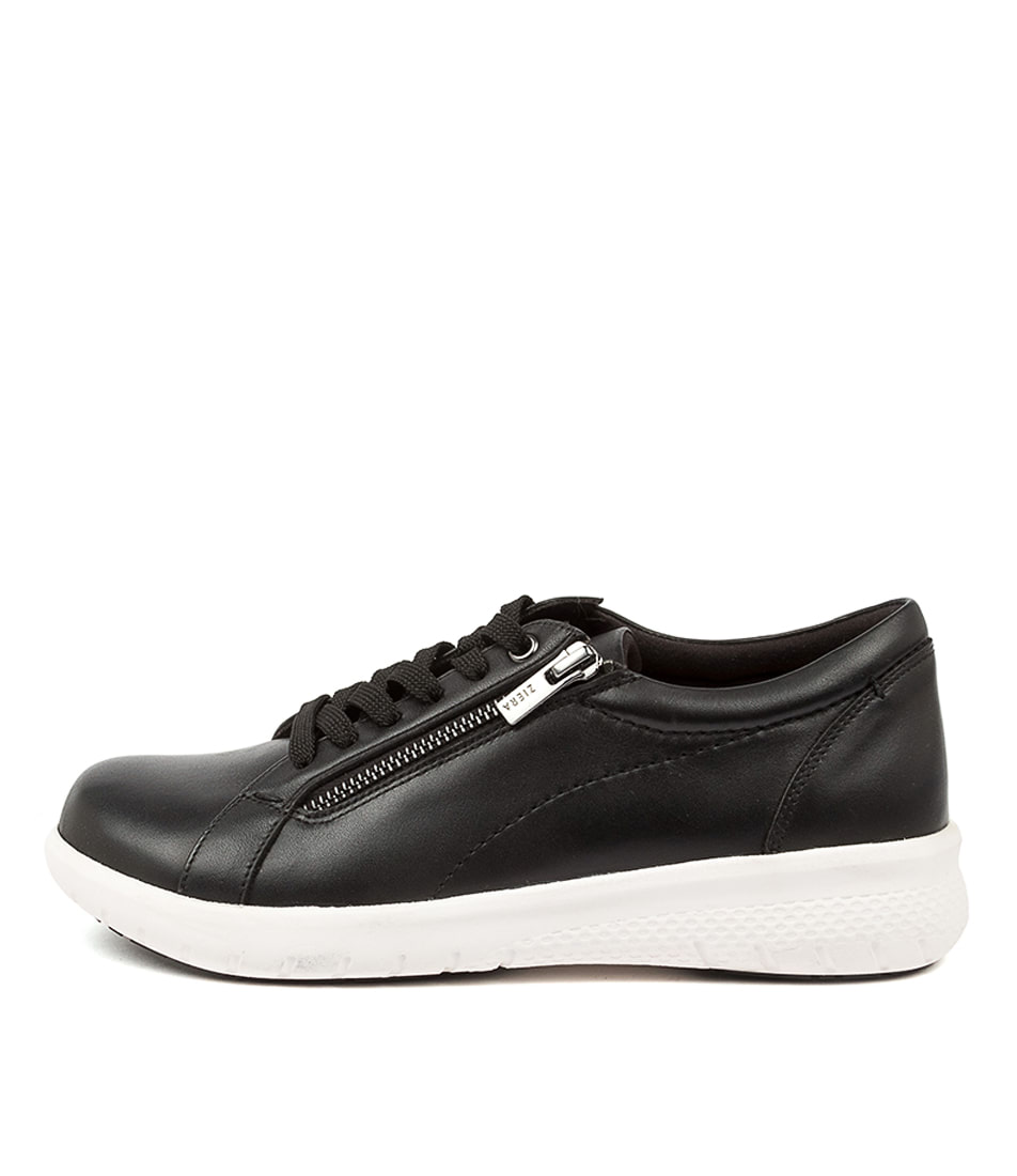 Buy Ziera Solar Xf Zr Black White Sole Flats online with free shipping