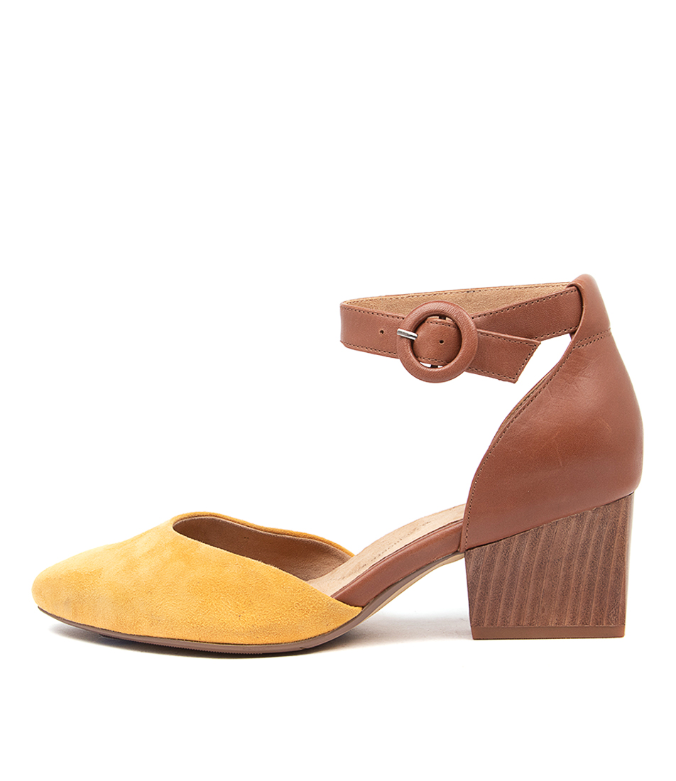 Buy Ziera Vanita Xw Zr Mustard Dk Tan Flats online with free shipping