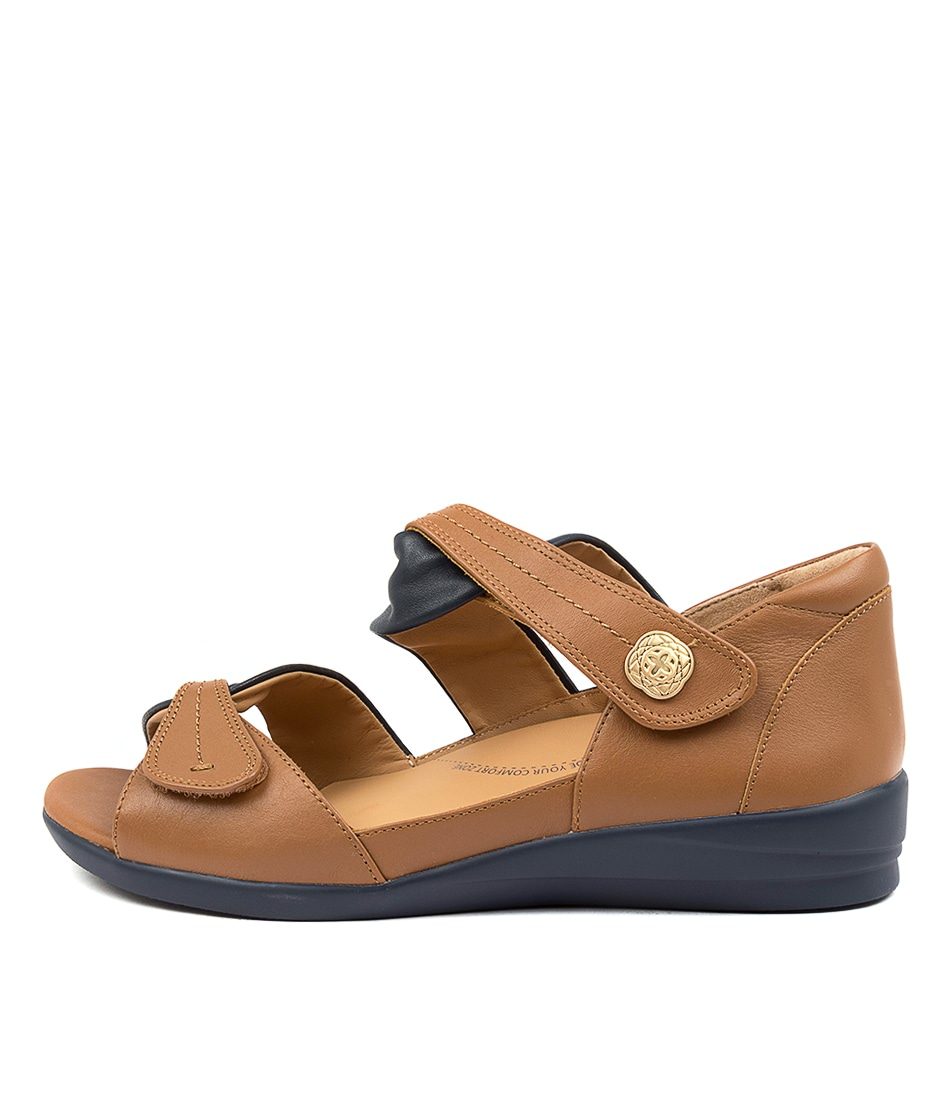 Buy Ziera Doxie W Zr Navy Tan Sandals Flat Sandals online with free shipping