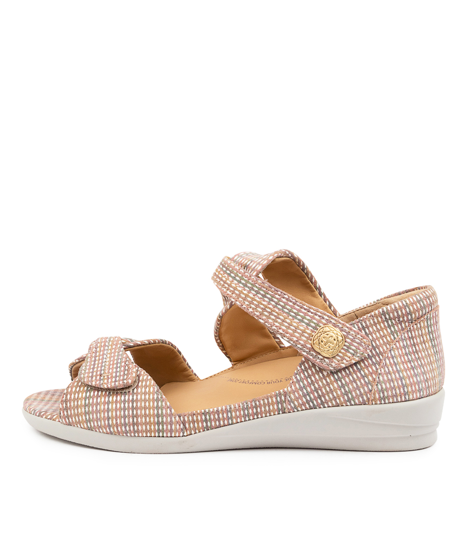 Buy Ziera Doxie W Zr Global Stripe Metallic Flat Sandals online with free shipping