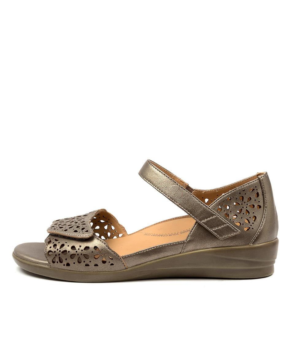 Buy Ziera Dusty W Zr Greige Flat Sandals online with free shipping