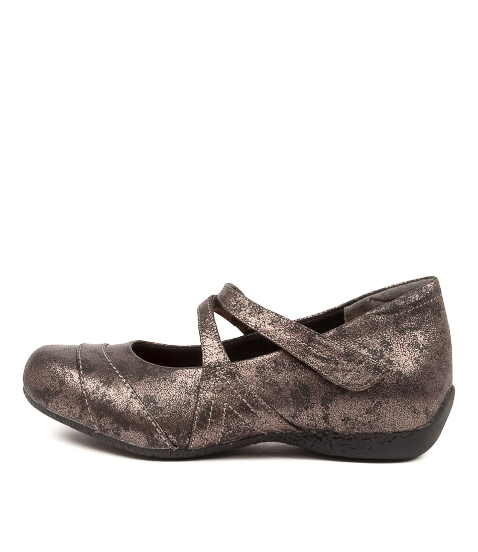 Buy Ziera Xray Xw Zr Pewter Metal Flats online with free shipping