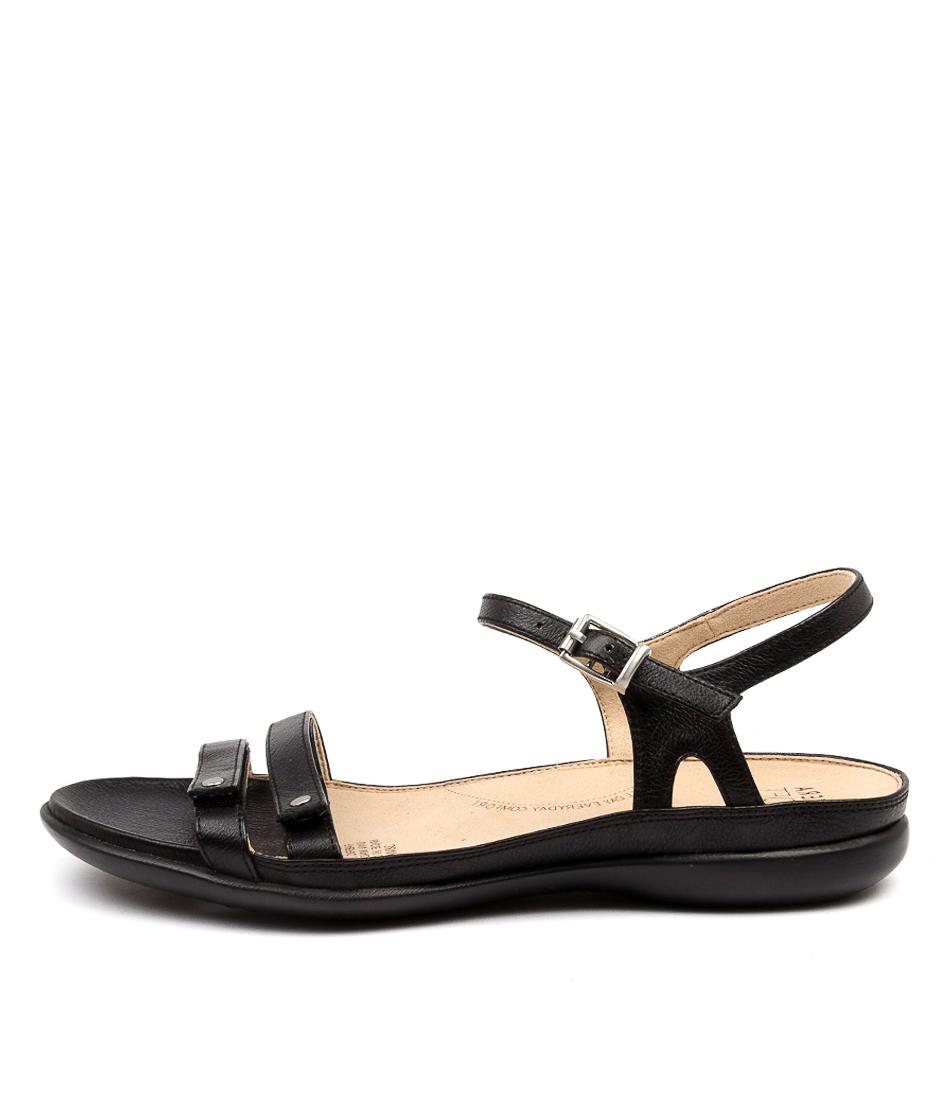Buy Ziera Breeze W Zr Black Flat Sandals online with free shipping