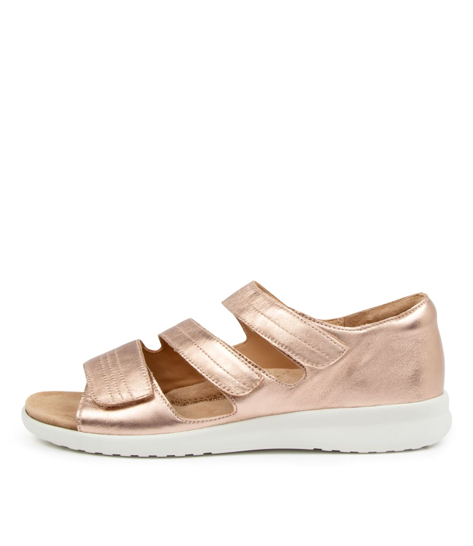 Buy Ziera Bardot Xw Zr Rose Gold White Sole Sandals Flat Sandals online with free shipping