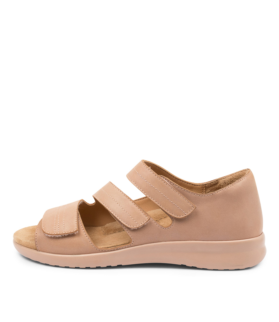 Buy Ziera Bardot Xw Zr Cafe Blush Sole Flat Sandals online with free shipping