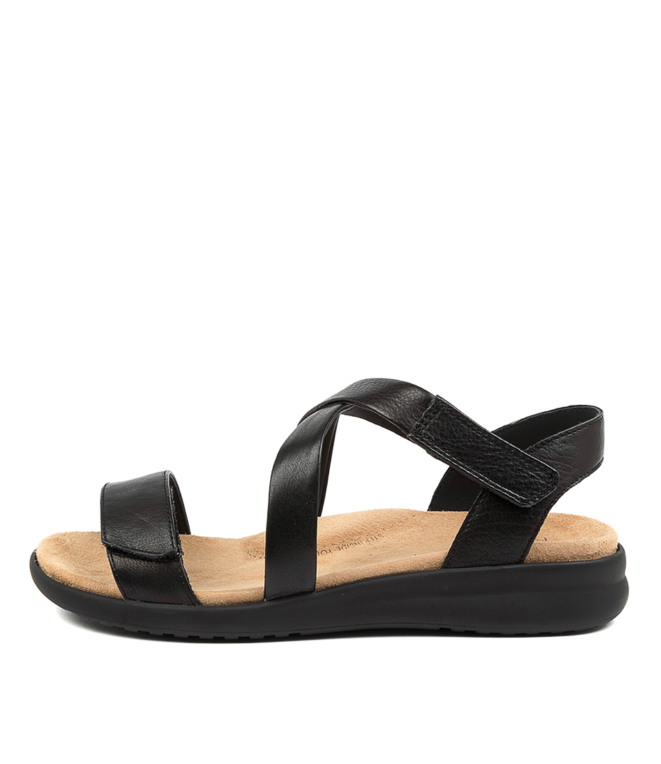 Buy Ziera Barney Xw Zr Black Sole Flat Sandals online with free shipping