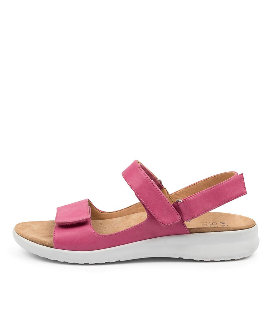 Buy Ziera Benji Xw Zr Fuchsia White Sole Flat Sandals online with free shipping