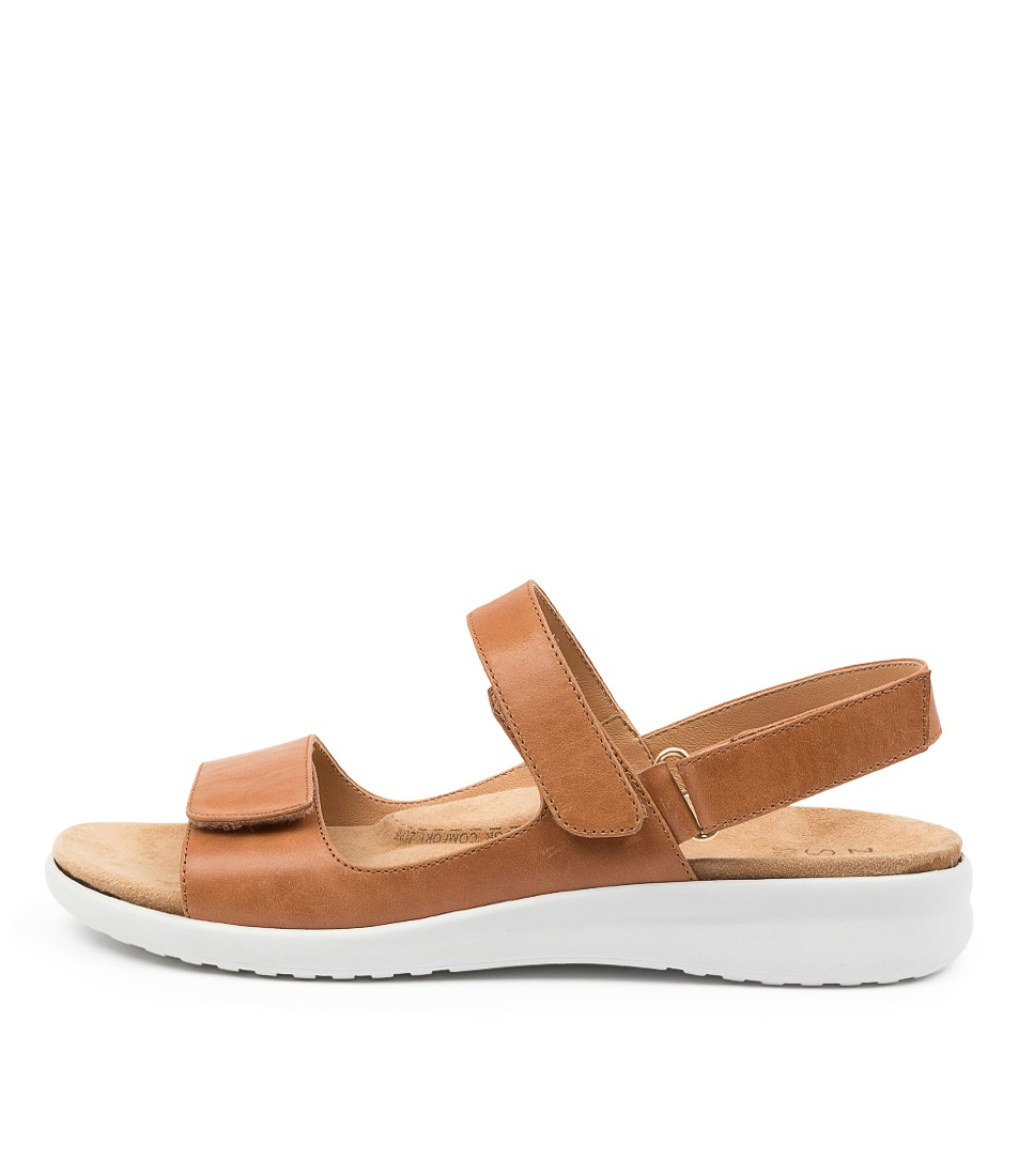 Buy Ziera Benji Xw Zr Tan White Sole Flat Sandals online with free shipping