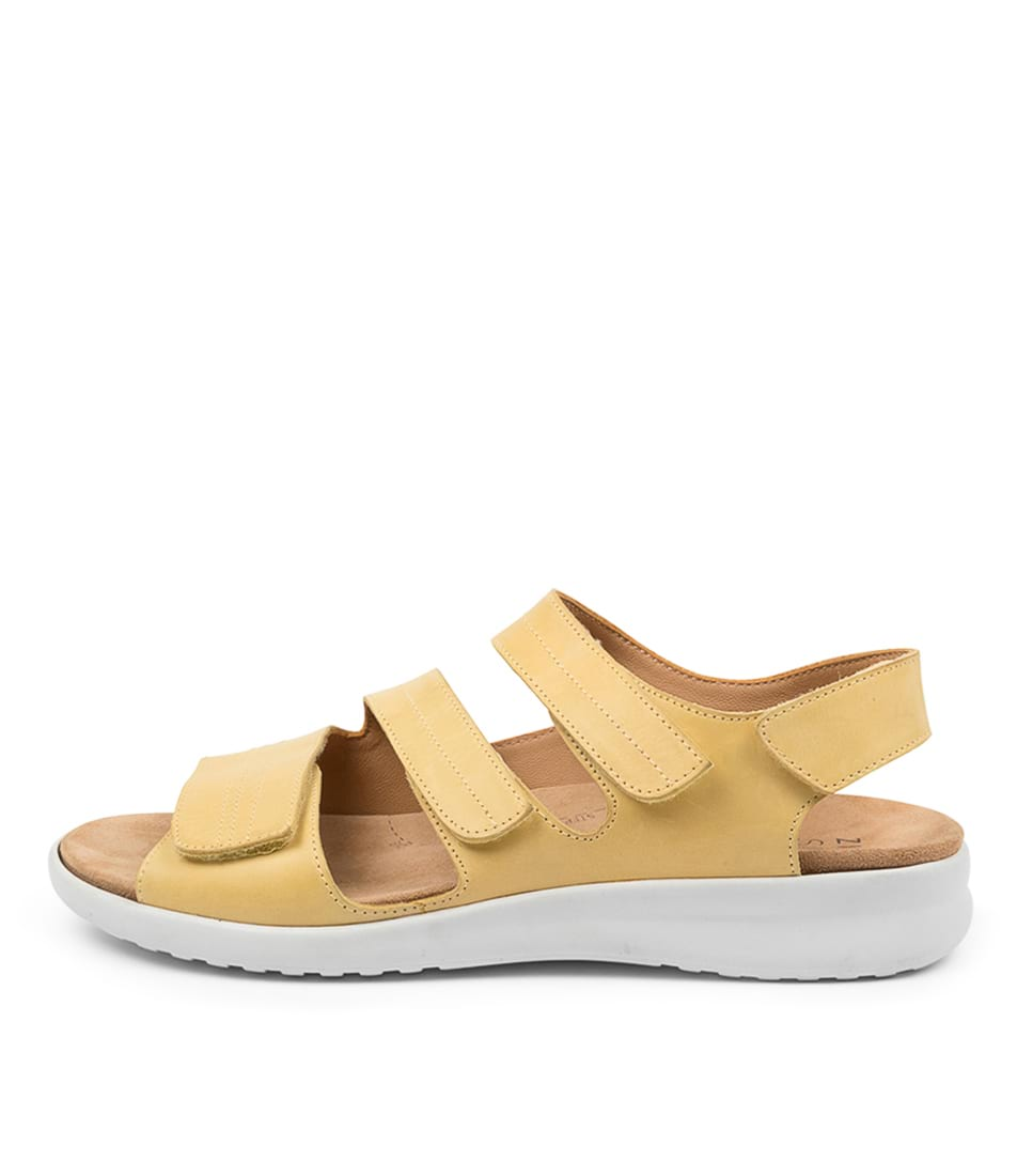 Buy Ziera Bonny Xw Zr Yellow White Sole Flat Sandals online with free shipping