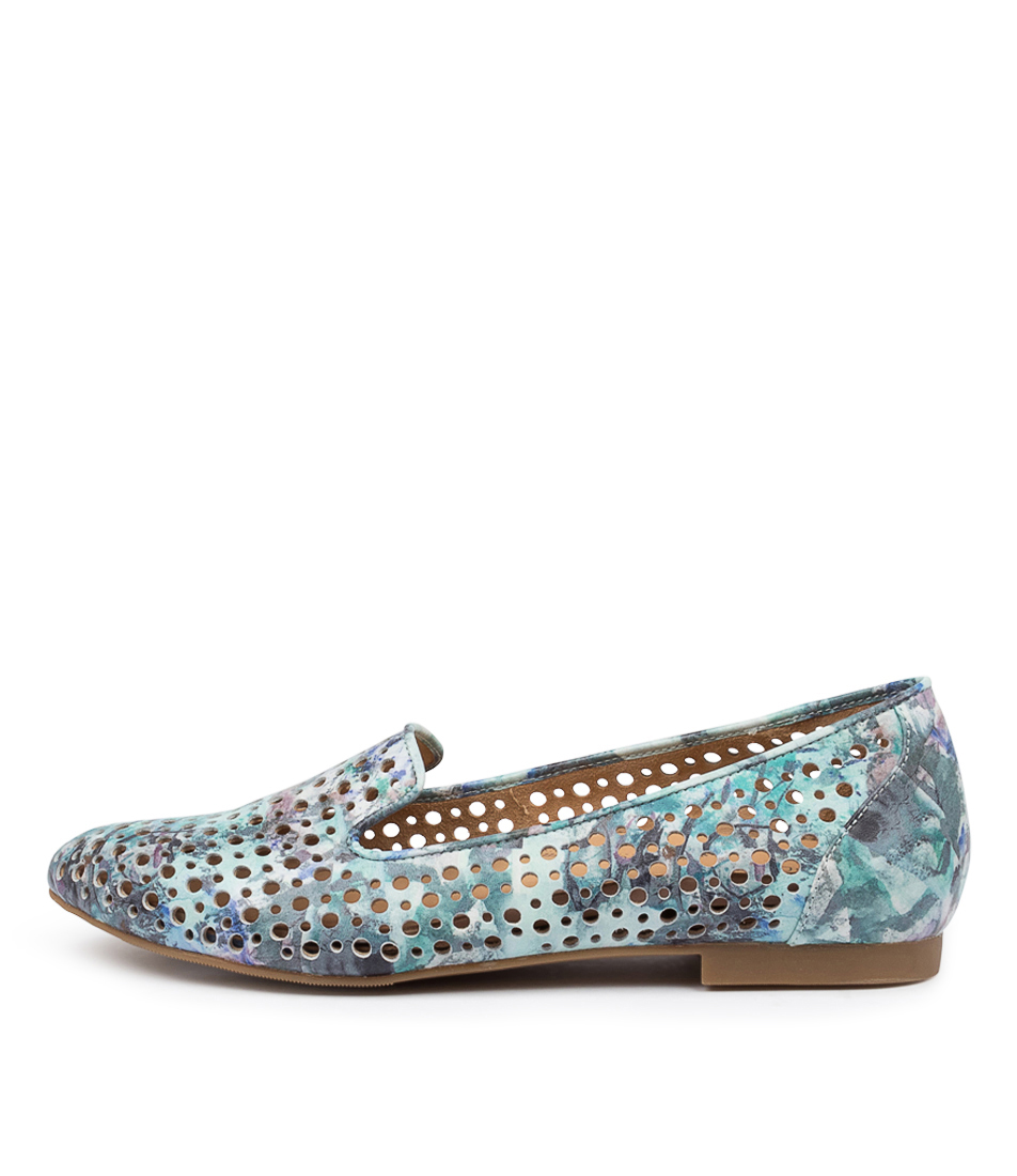 Buy Ziera Cindra Xf Zr Blue Multi Flats online with free shipping