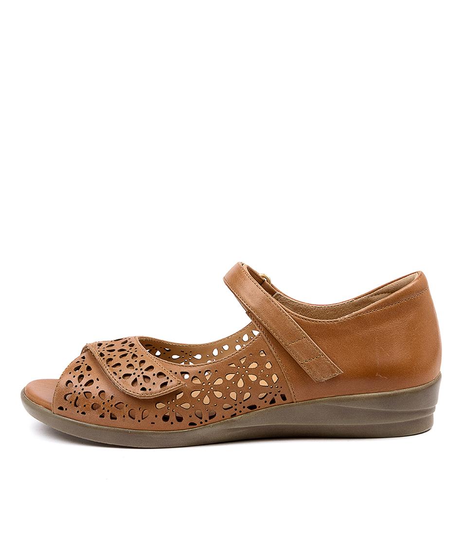 Buy Ziera Daffodil W Zr Tan Flat Sandals online with free shipping