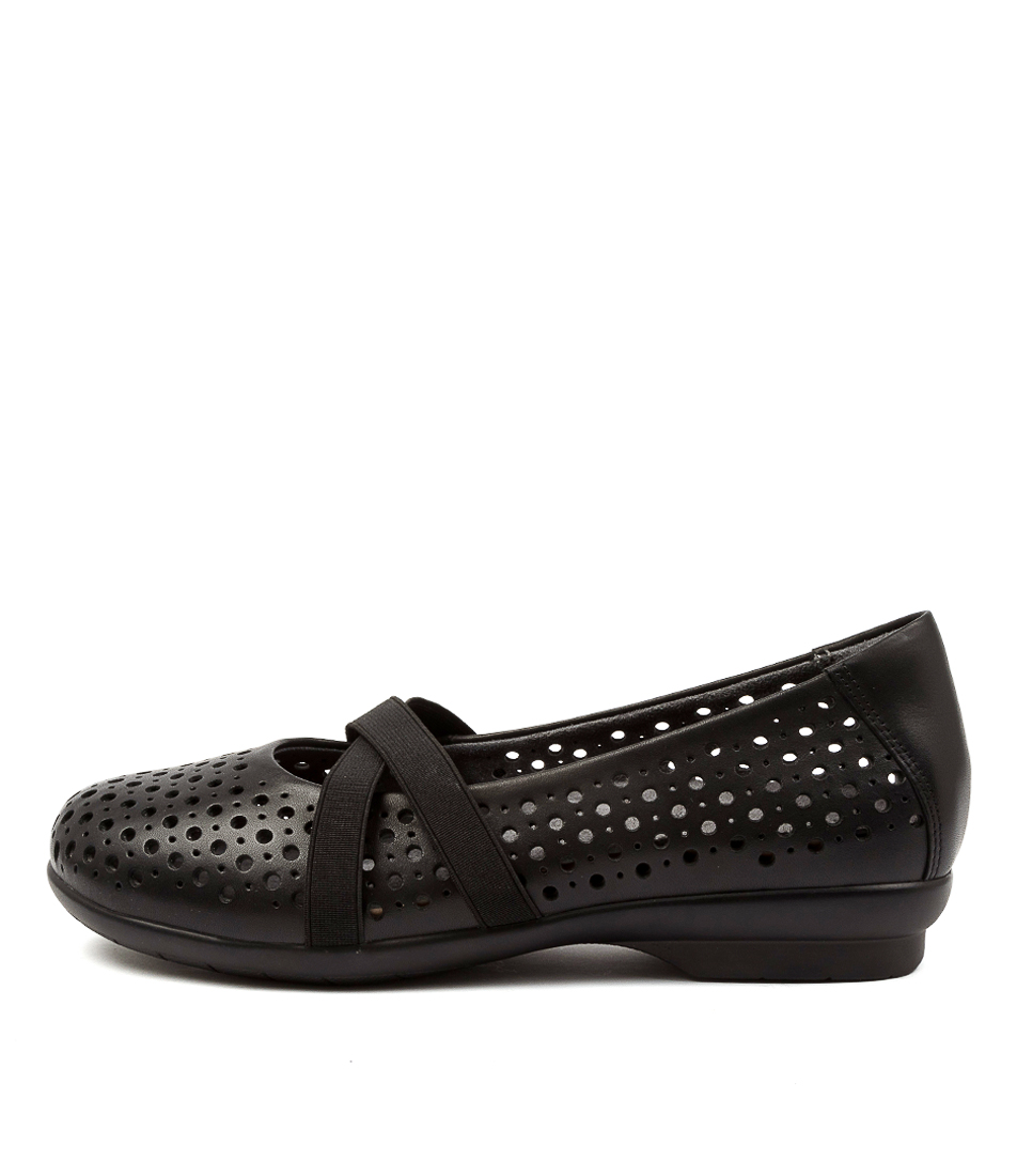 Buy Ziera Happen Xf Zr Black Flats online with free shipping