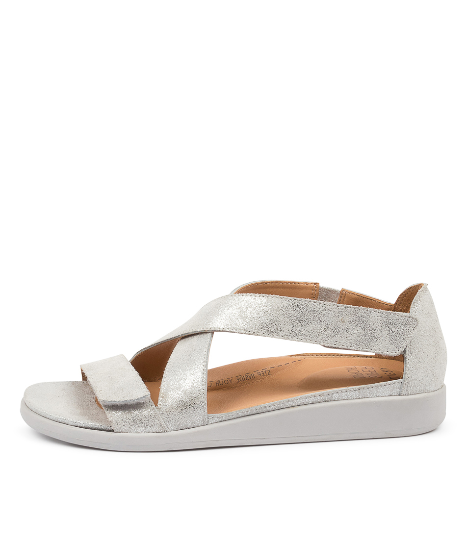 Buy Ziera Issy W Zr Silver Dusty Flat Sandals online with free shipping