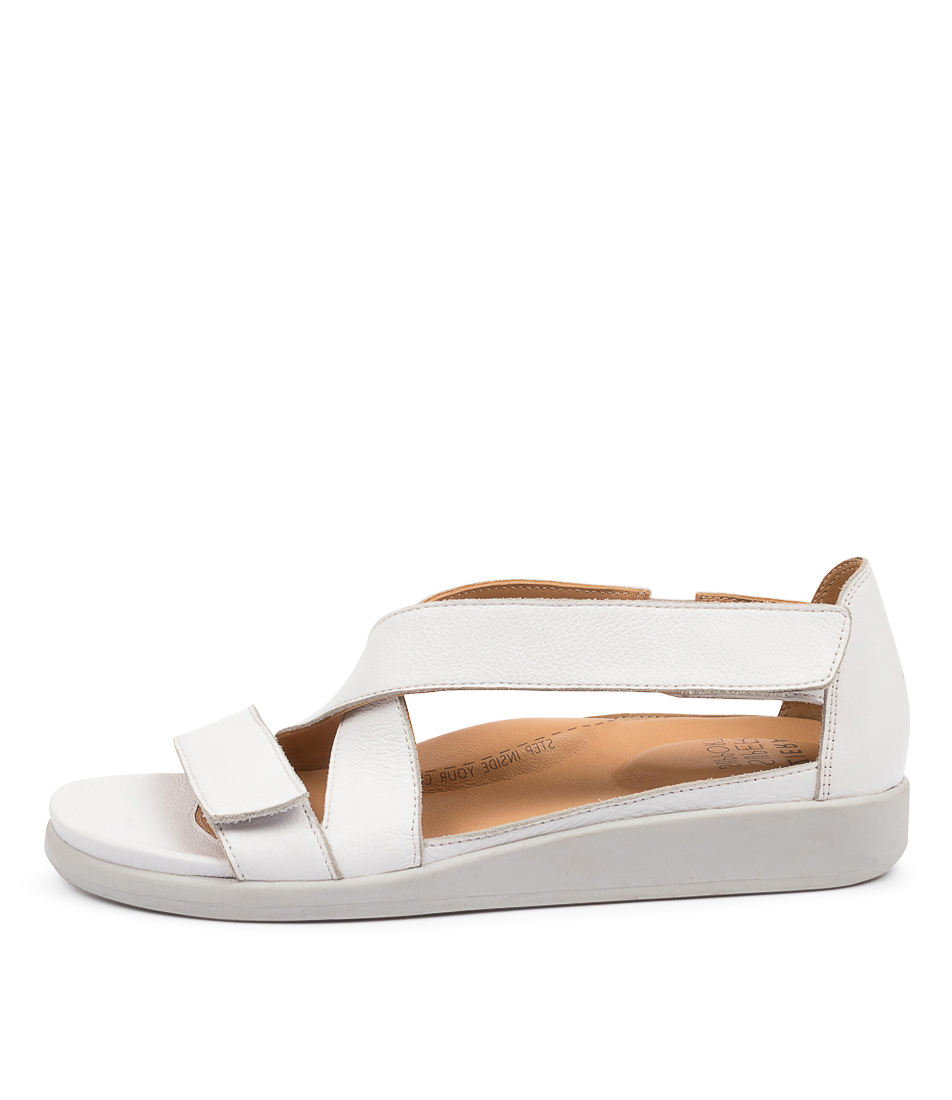 Buy Ziera Issy W Zr White Flat Sandals online with free shipping