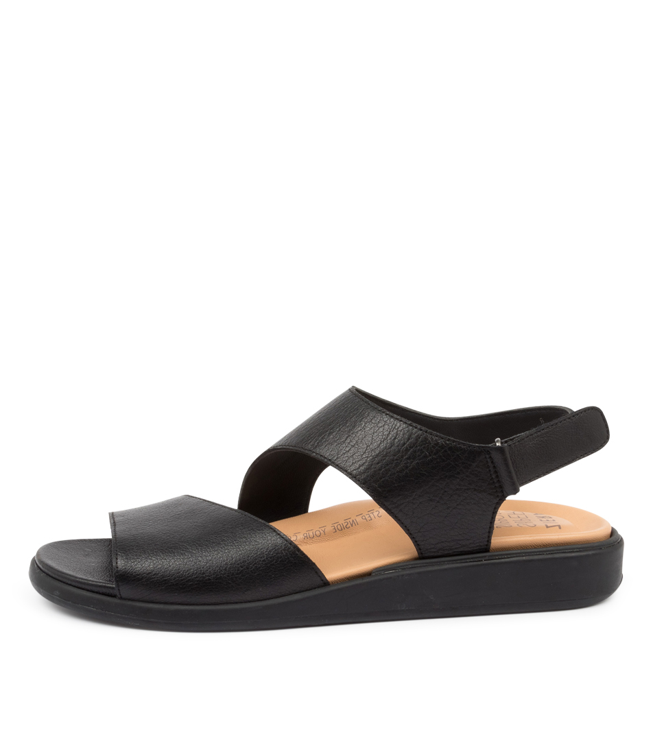 Buy Ziera Igor W Zr Black Flat Sandals online with free shipping