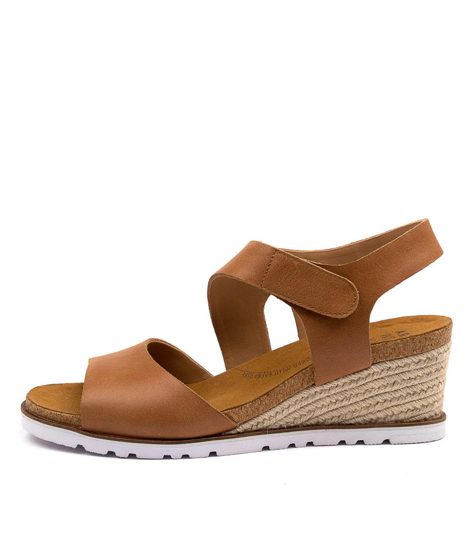 Buy Ziera Khaza W Zr Tan Heeled Sandals online with free shipping