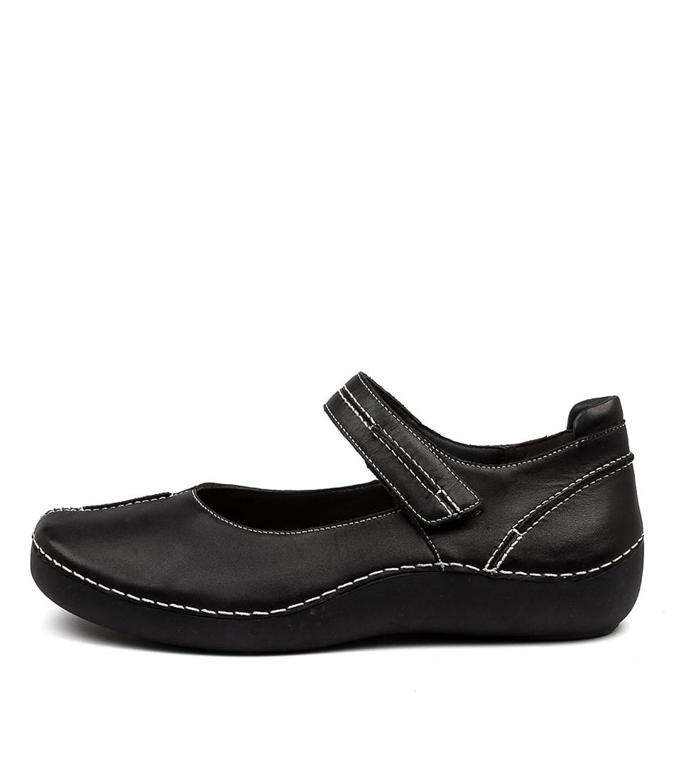 Buy Ziera Lilia Xw Zr Black Flats online with free shipping