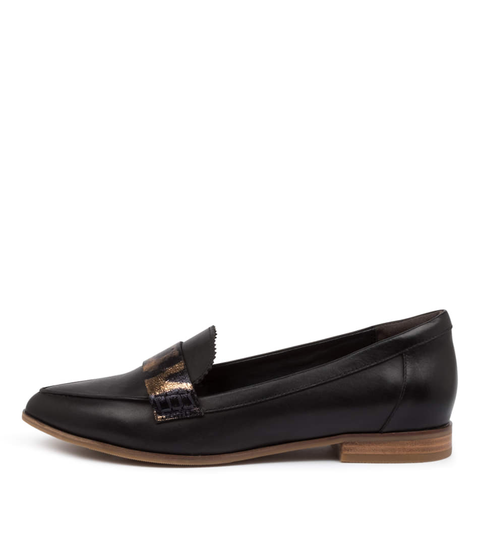 Buy Ziera Oreta Xf Zr Black Ocelot Flats online with free shipping