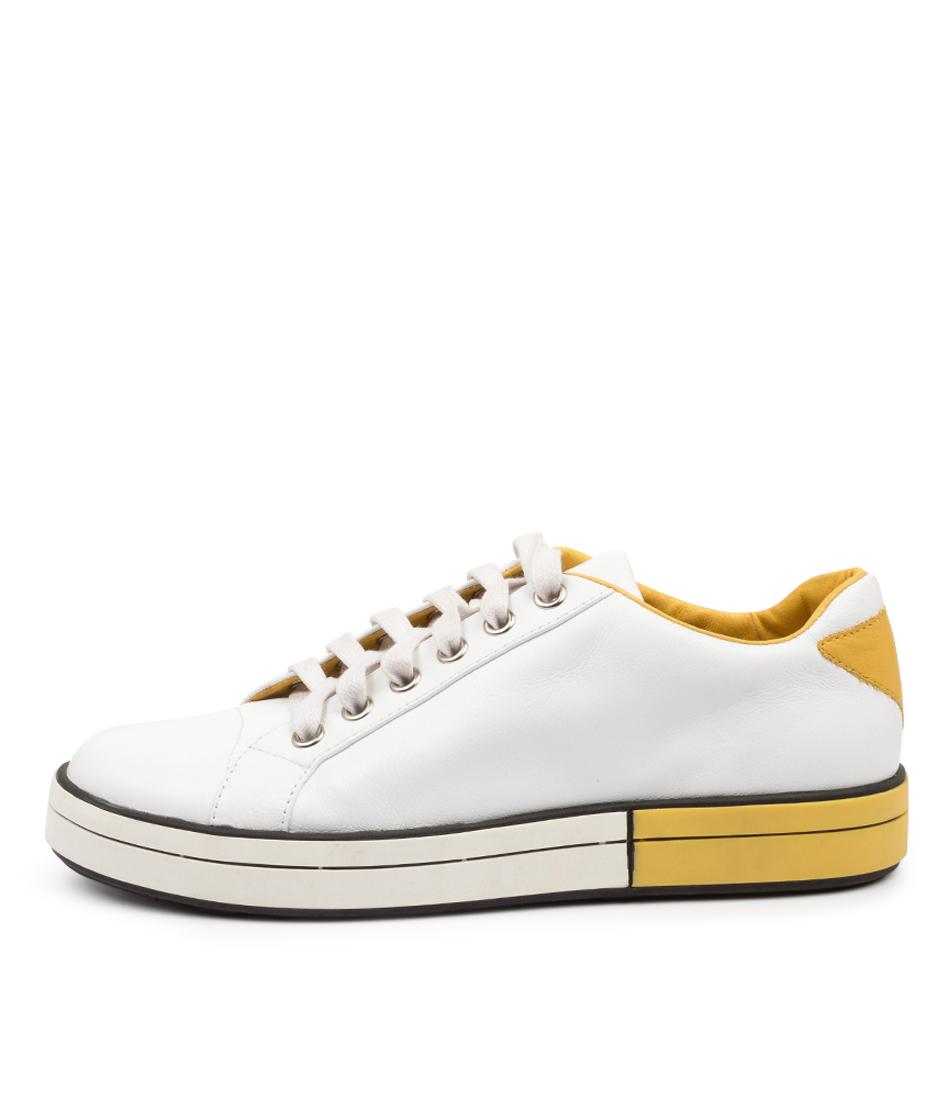 Buy Ziera Rory W Zr White Yellow Flats online with free shipping