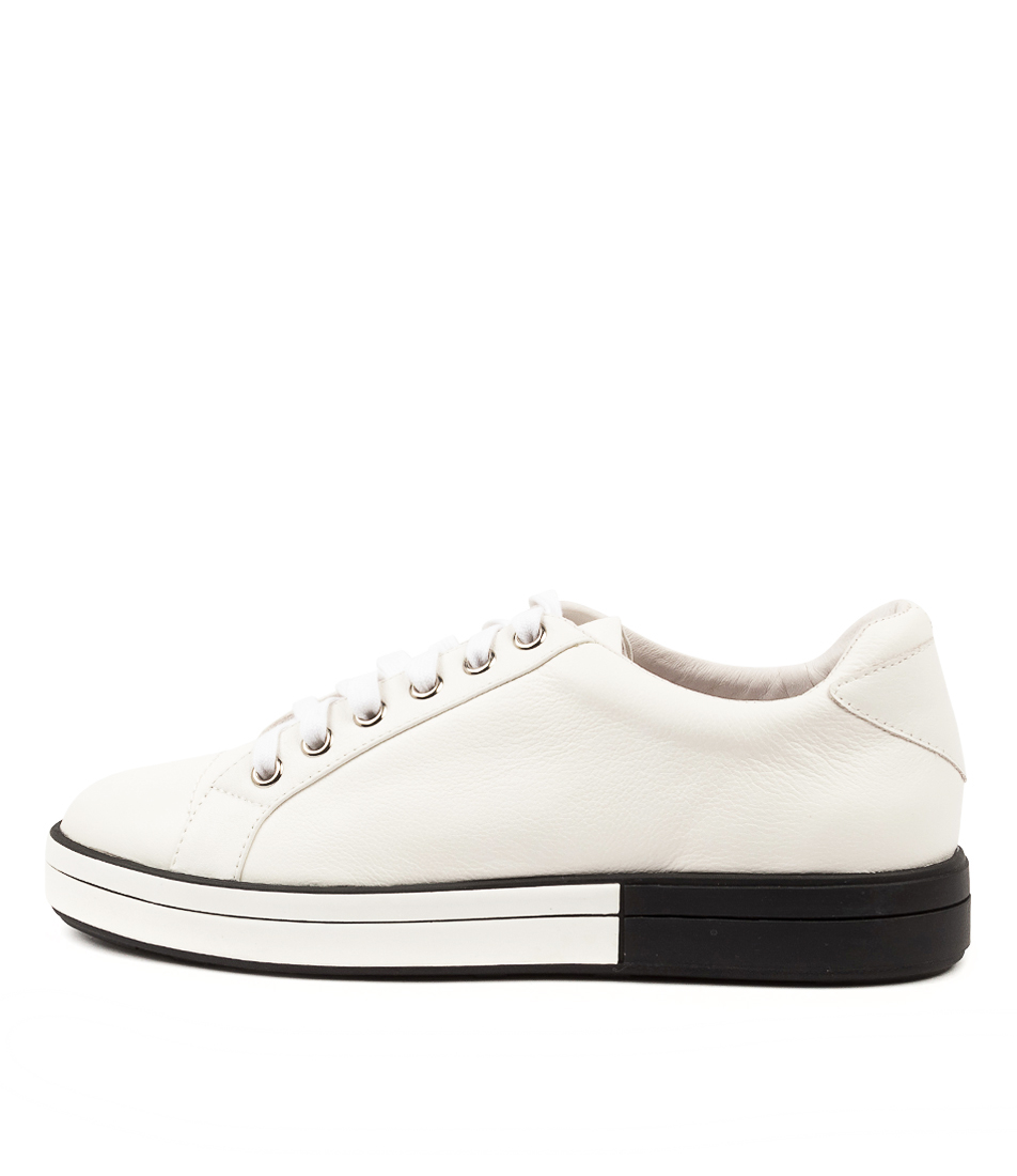 Buy Ziera Rory W Zr White White & Black Sole Flats online with free shipping