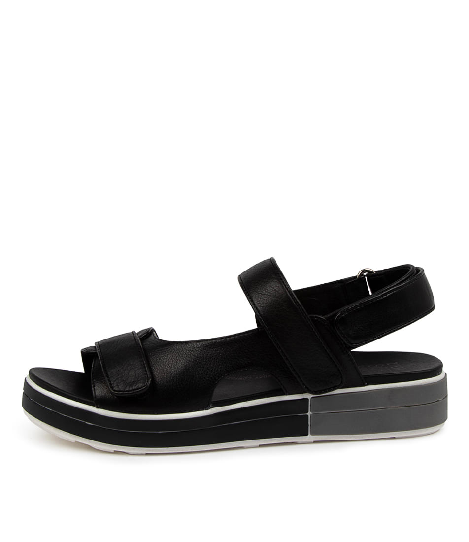 Buy Ziera Sirius W Zr Black Flat Sandals online with free shipping