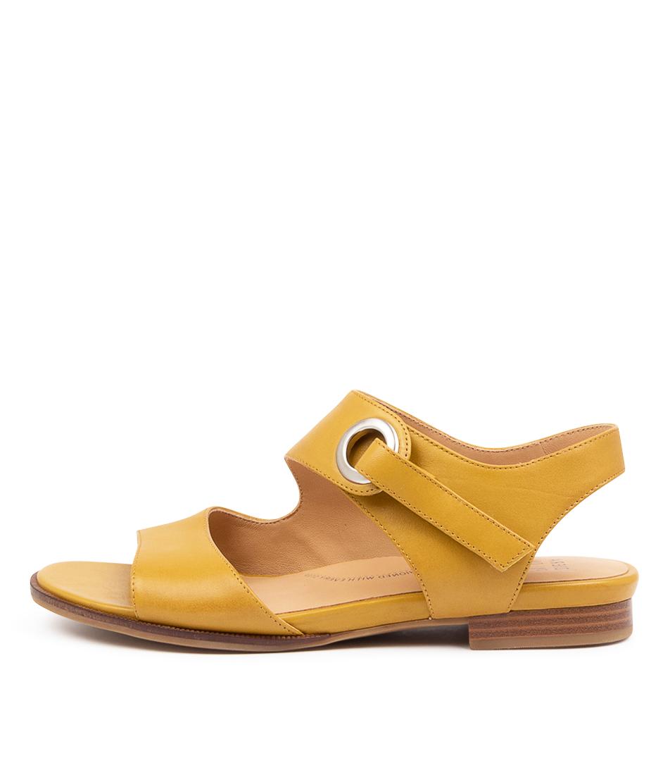 Buy Ziera Tinka W Zr Mustard Flat Sandals online with free shipping