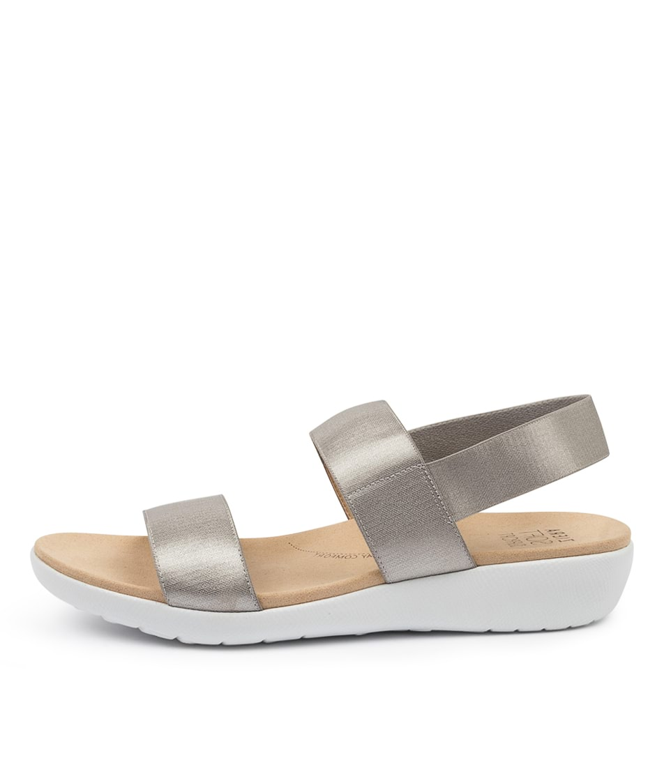 Buy Ziera Usaid W Zr Silver Flat Sandals online with free shipping