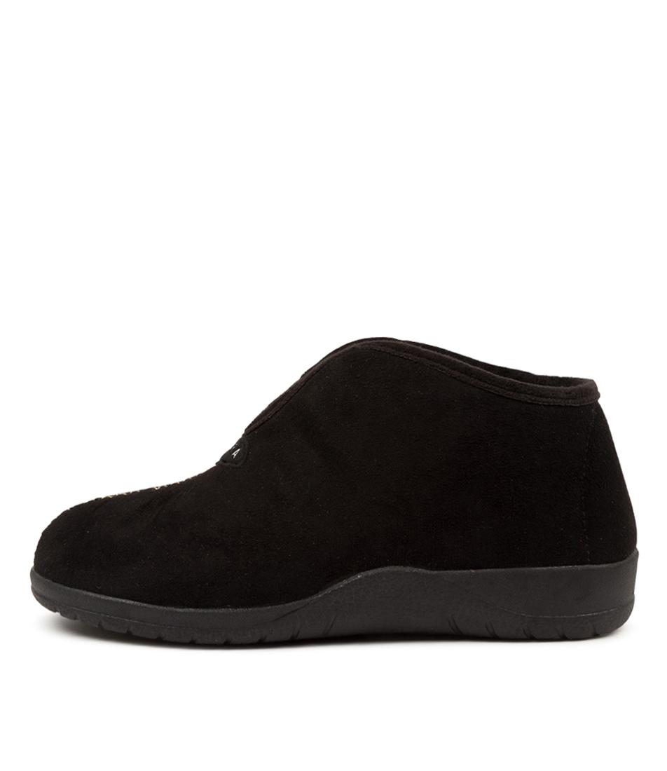 Buy Ziera Cuddles W Zr Black Black Fur Flats online with free shipping