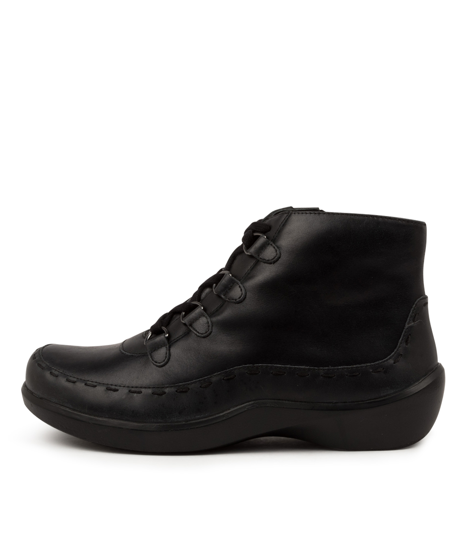 Buy Ziera Alexia Xw Zr Black Ankle Boots online with free shipping