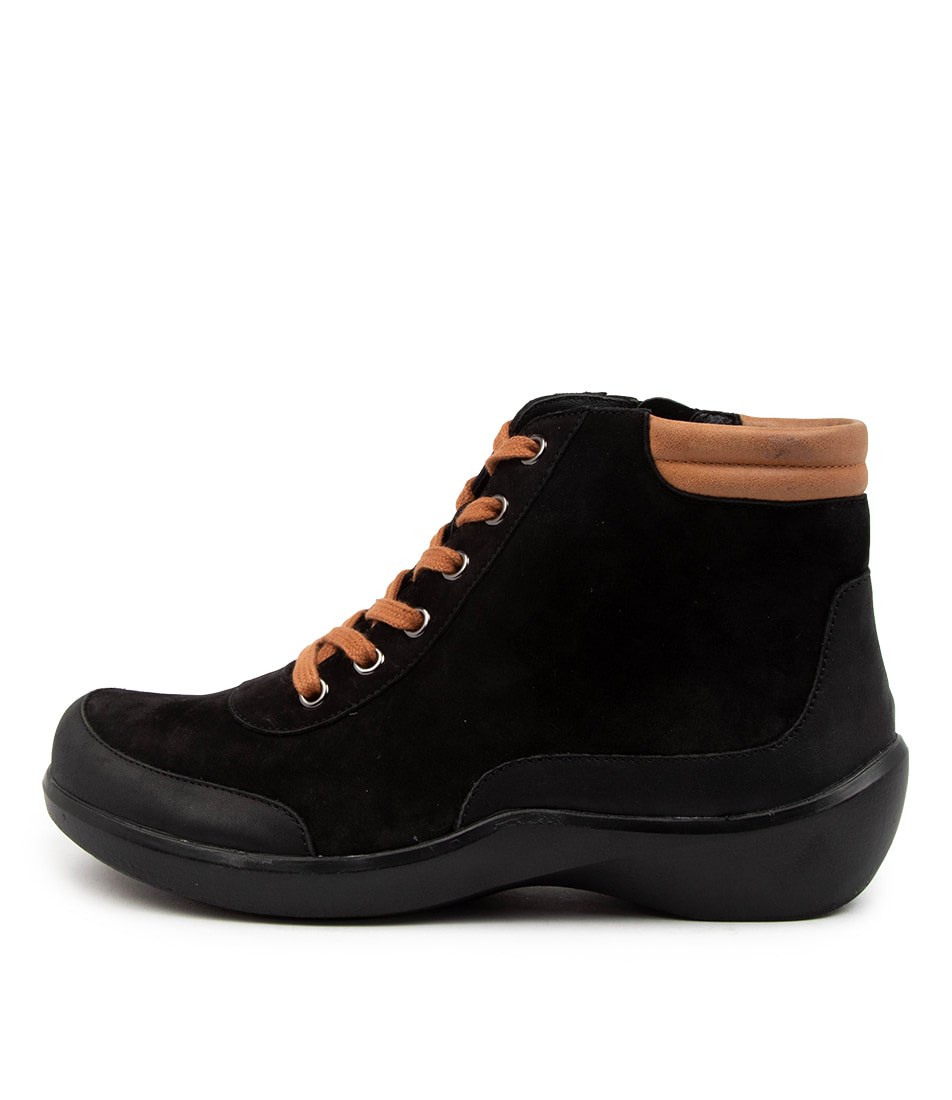 Buy Ziera Arlo Xw Zr Black Tan Ankle Boots online with free shipping