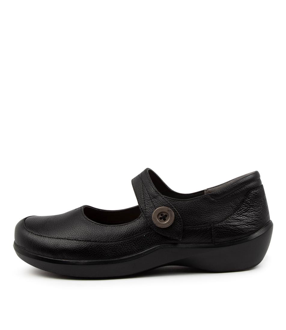 Buy Ziera Gloria Xw Zr Black Flats online with free shipping
