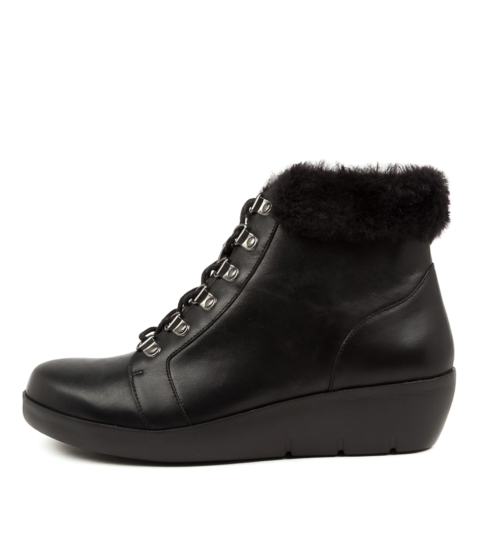 Buy Ziera Beau W Zr Black Black Ankle Boots online with free shipping