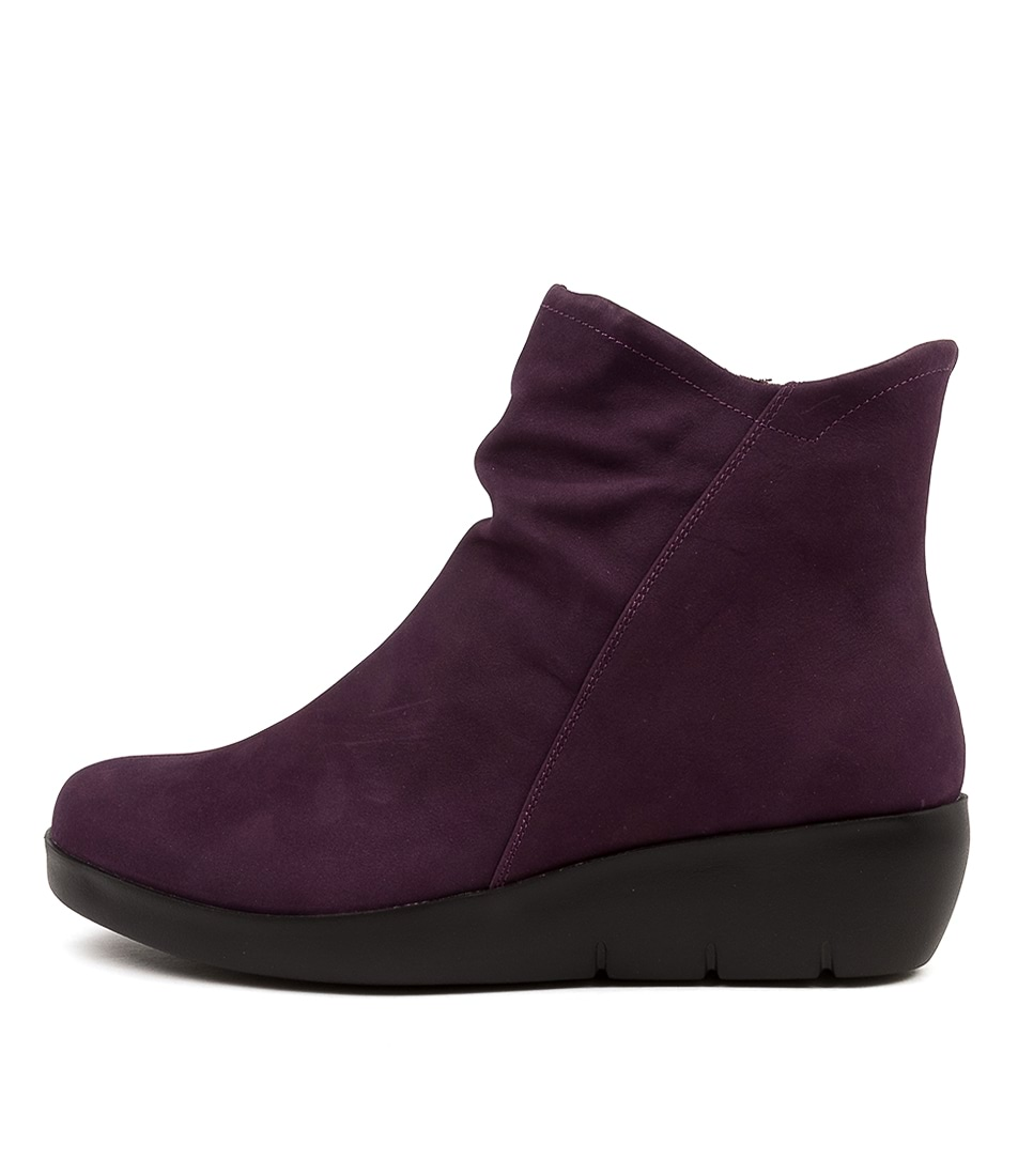 Buy Ziera Benny W Zr Purple Ankle Boots online with free shipping