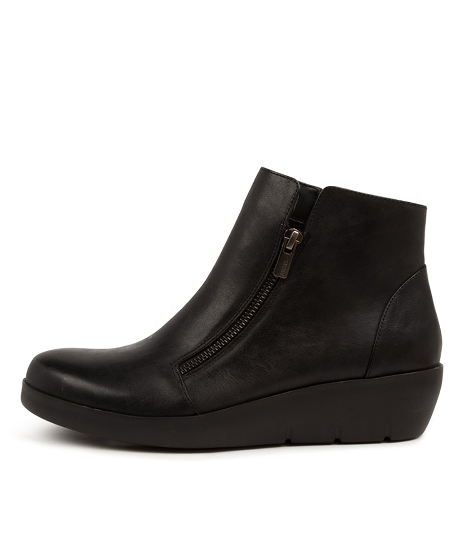 Buy Ziera Bertha W Zr Black Ankle Boots online with free shipping