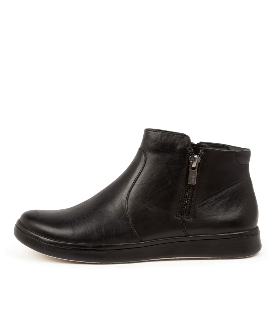 Buy Ziera Dillan Xf Zr Black Ankle Boots online with free shipping