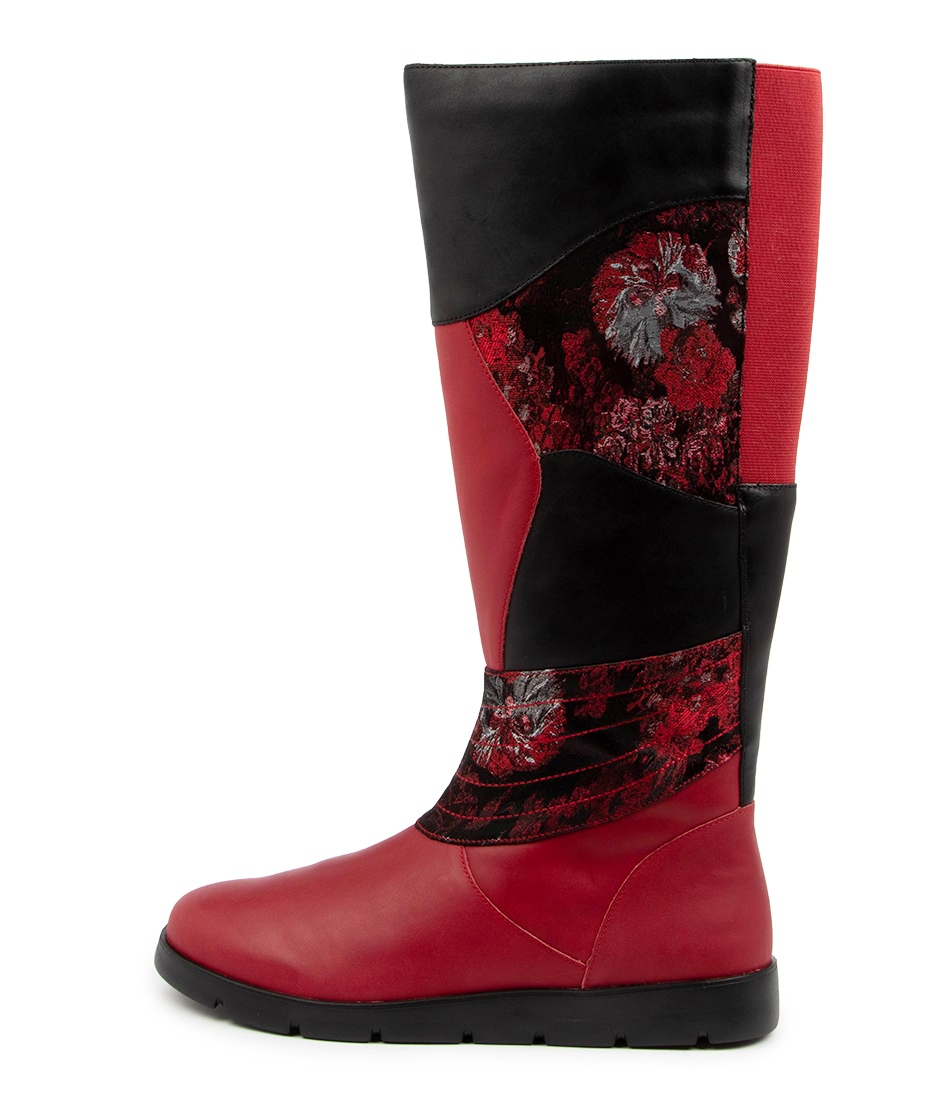 Buy Ziera Marlo W Zr Red Long Boots online with free shipping
