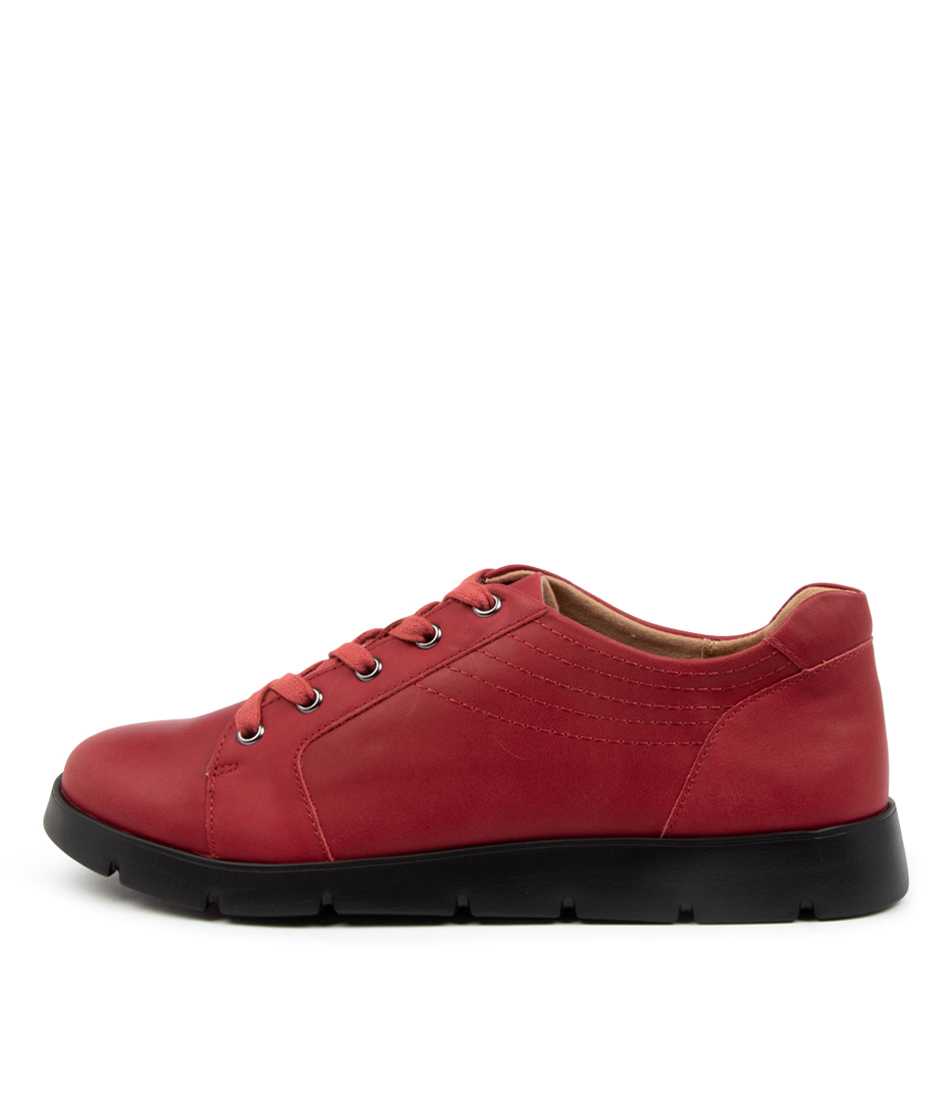 Buy Ziera Mylo W Zr Dk Red Flats online with free shipping