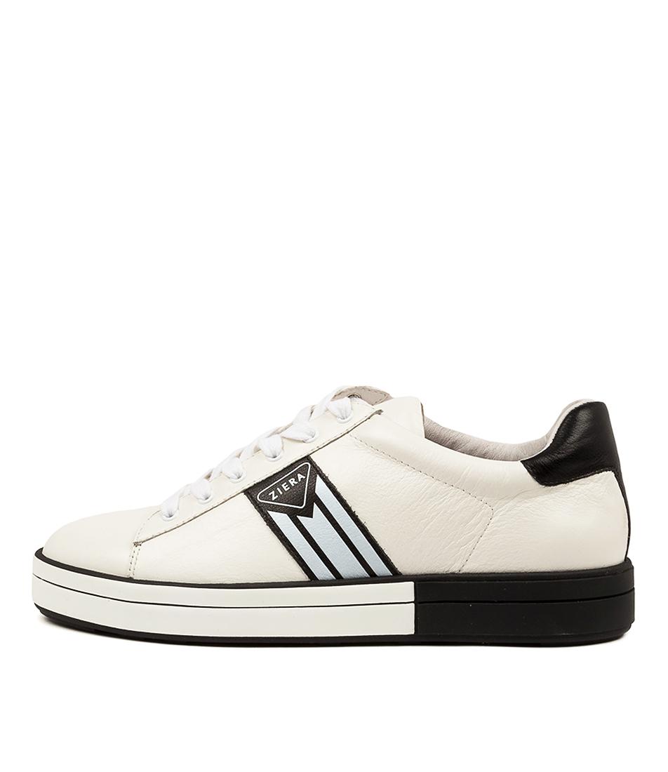 Buy Ziera Raya W Zr White Black Flats online with free shipping