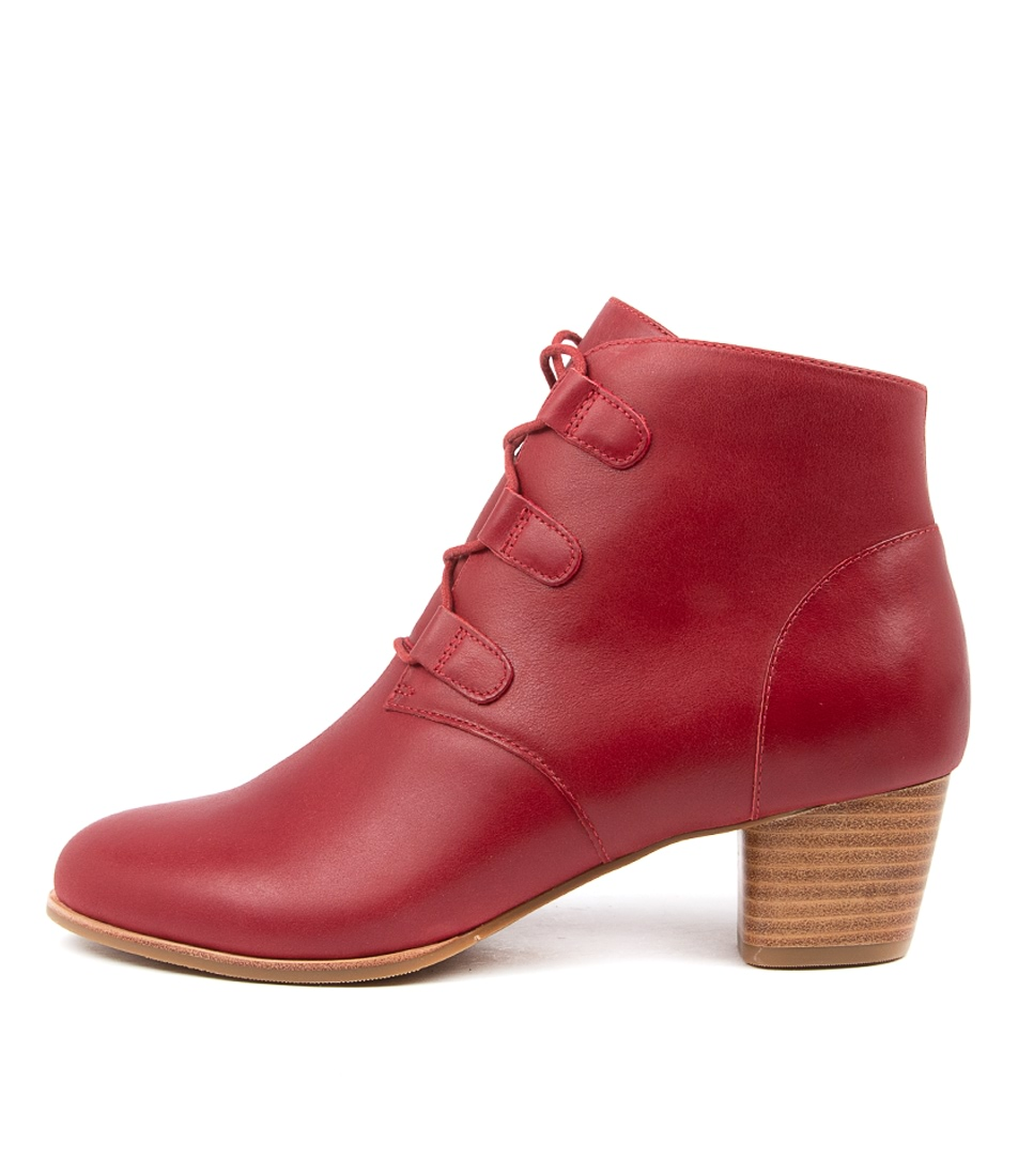 Buy Ziera George W Zr Dk Red Ankle Boots online with free shipping