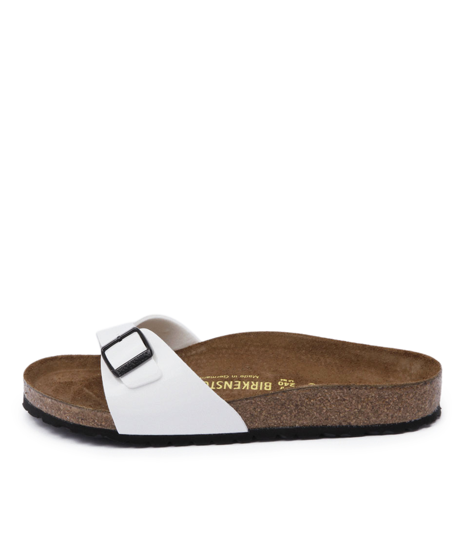 Birkenstock Madrid Bk White Casual Flat Sandals