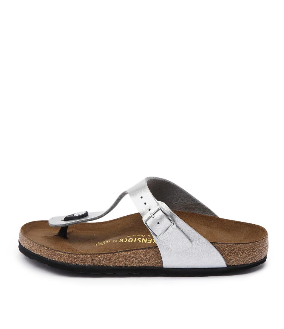 Birkenstock Gizeh Silver Casual Flat Sandals