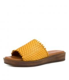 AIBES YELLOW LEATHER