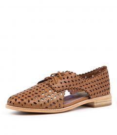 AGNESS DK TAN LEATHER