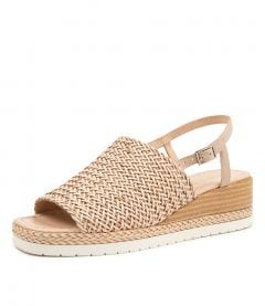 ISSAH NUDE WEAVE-LEATHER