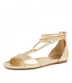 JAZZIE PALE GOLD LEATHER