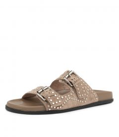 HEIRE TAUPE-SILVER SUEDE